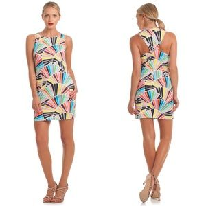 Trina Turk Cosme Sleeveless Geometric Shift Dress